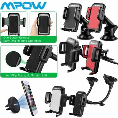MPOW in Car Phone Holder Universal Mount Magnetic Air Vent/ CD Slot / Windscreen