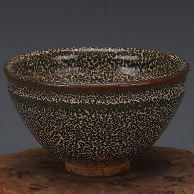 Song Dynasty jian kiln China antique Porcelain fambe speckle Teacup