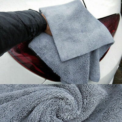1PC Microfibre Cleaning Auto Car Detailing Ultra Soft Edgeless Towel Cloths Dust