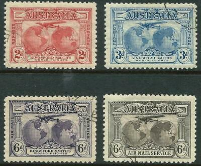 AUSTRALIA - 1931 KINGSFORD SMITH Set to 6d 'SEPIA' AIRMAIL SG121/139 CTO [A0667]
