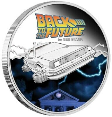 2015 $1 Back to the Future - Delorean - 1 oz Silver proof coin by Perth Mint