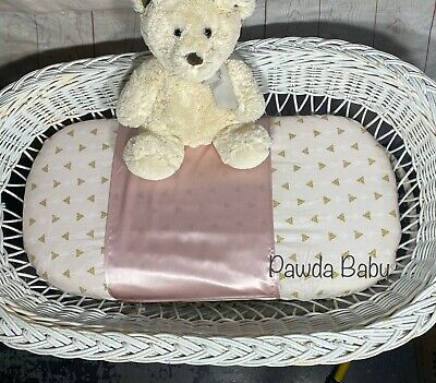 100% Mulberry silk bassinet semi sheet moses basket silk slip grey ivory pink