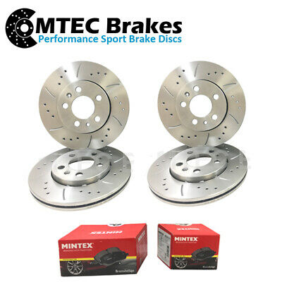 BMW X5 E70 30i xDrive 08-09 Front Brake Discs Drilled Grooved Mtec Black Edition