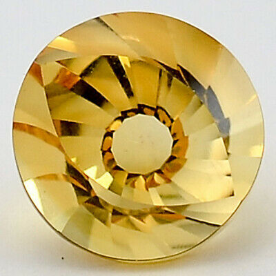 4 Ct AAA Natural Citrine Round Shape 10X10x7 mm Cut Loose Gemstone