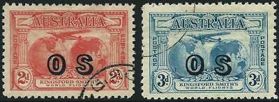 AUSTRALIA -1931 KINGSFORD SMITH to 3d 'BLUE' OS SG ɸ123-124 CTO Cv £50 [A0679]