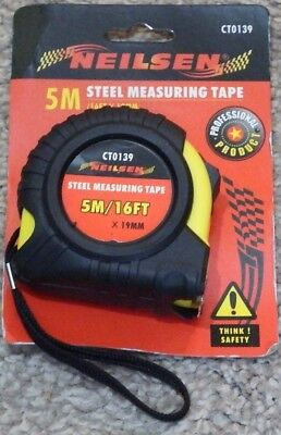 8 off 5m 16' tape measures rubber coated metric and feet & inch measurements