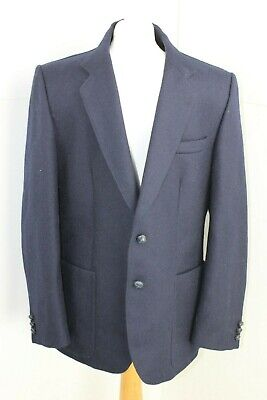 Hardy Amies At Hepworths Men's 1960's Navy Tailored Jacket Pure New Wool 44' ch