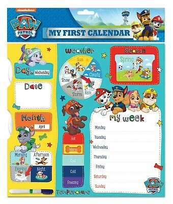 Paw Patrol Calendar 1st My First Calendar Activity Gift Week Learning Notes Fun