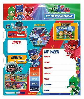 PJ Masks Calendar 1st My First Calendar Activity Gift Week Learning Notes Fun