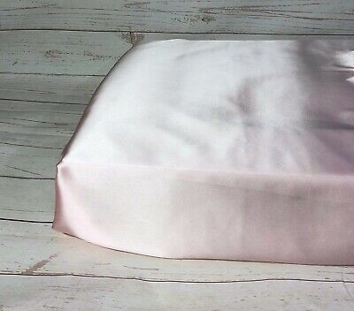100% Mulberry silk full cot crib fitted sheet grey pink camel ivory white