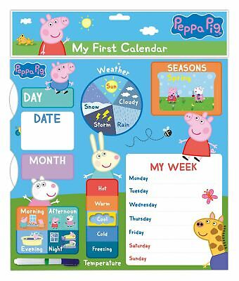 Peppa Pig Calendar 1st My First Calendar Activity Gift Week Learning Notes Fun