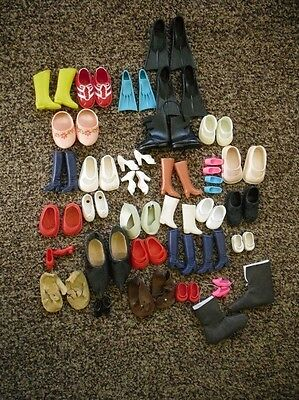 LOT  VINTAGE DOLL SHOES, SOME SQUISHY, MOD, BOOTS, HEELS FOR BARBIE make offer