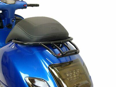 Vespa GTS/GT/GTV 125 200 250 Matt Black Sprint Rack Luggage Carrier & Grab Rail