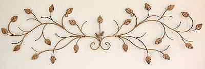 "Indoor/Outdoor Wall decor: Wrought Iron Flower  43"" x 13"""