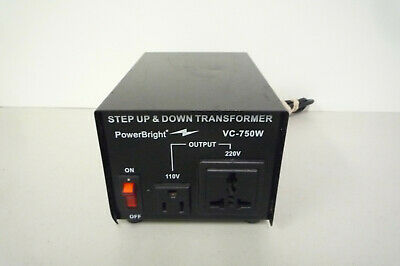 PowerBright Step Up & Down Transformer VC-750W Power Bright
