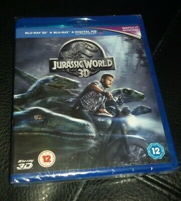 Jurassic World 3D/2D/digital-New/sealed-Blu-Ray-Free P&p!!