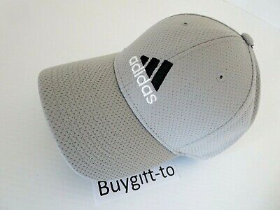 26bd4adf NEW ADIDAS CLIMALITE Sweat Nothing Baseball Stretch Fit Hat Cap Grey S/M