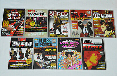 HOW TO PLAY GUITAR 9 DVD LOT Jimi Hendrix Shred Lead Blues Acoustic Hard Rock +