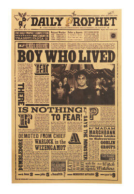 Harry Potter Movie Poster - Boy Who Lived Daily Prophet 42X27cm Vintage Style