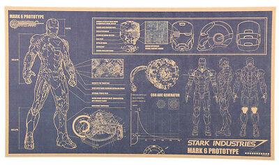 Iron Man Design Drawings Poster 51 x 29cm Comic Marvel Avengers Stark Industries