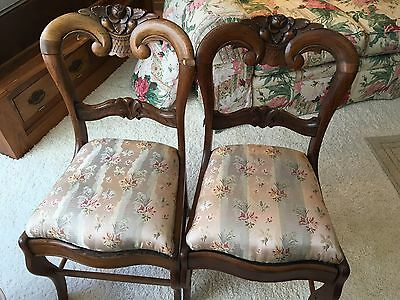 Mid 19Th Century Victorian Rococo Revival Rosewood Parlor Chairs