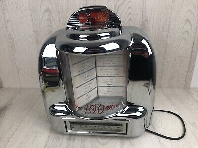 Nostalgia American Diner 1950s Table Omega Jukebox AM/FM Radio Tape Cassette