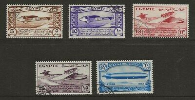 Egypt  Sg 214/8  1933 Aviation Congress Set   Fine Used