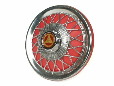 "Red & Chrome Wheel Trim Hub Cap Vespa PX T5 LML PK Rally 10"" Mod Spoked x 1"