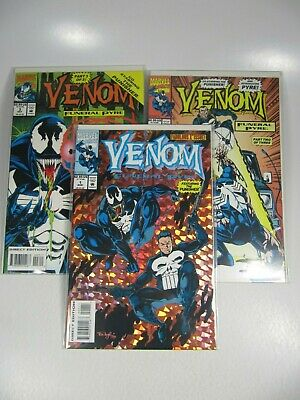 MARVEL VENOM COMIC Book Variety Lot Funeral Pyre/Lethal Protector VF
