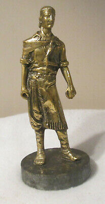 Bronze Statue Figure of Medieval Ancient Egyptian Roman Greek Man Rancher