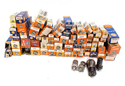 Huge Lot of Over 70 GE NOS Vintage Radio Vacuum Tubes