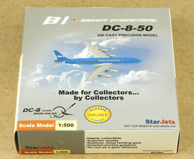 BI Braniff International DC-8-50 Star Jets 1:500 Blue