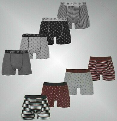 4 Pack Mens Branded Penguin Stretch Signature Logo Boxer Shorts Underwear S-XXL