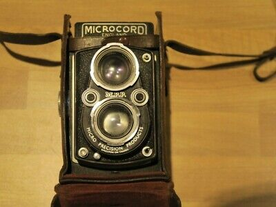 Vintage Mmp Microcord  Camera  In Case. Ross Lens