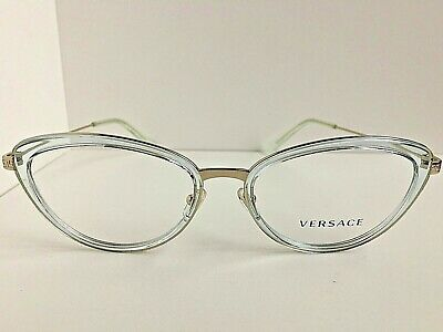 cfcd7dcaa631 New Versace Mod. 1244 1405 Clear 53mm Cats Eye Women s Eyeglasses Italy