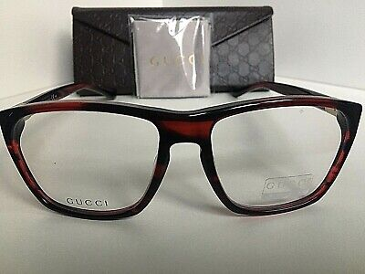 4101cadd6f9 New GUCCI GG 1005 B GG1005 B 9P6 55mm Red Havana Men s Eyeglasses Frame