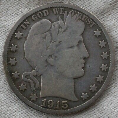 1915-S Barber Silver Half Dollar   ***FREE SHIPPING*** Some Sharp Detail