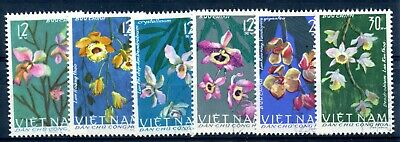 Weeda Vietnam 406-411 VF CTO used set of 6, 1966 Orchids issue