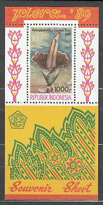Indonesia - Hojas Yvert 67 ** Mnh  Flores