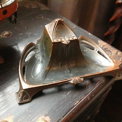 Beautiful Inkwell/Tray Art Nouveau Arts & Crafts Very Cool