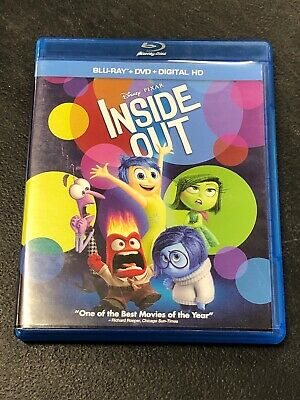 Disney Pixar Pre-owned Inside Out Bluray And DVD Disc Set