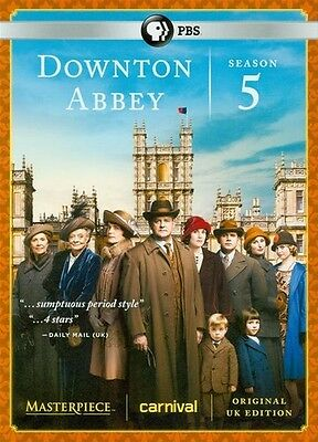 Masterpiece: Downton Abbey Season 5 (2015, DVD New)