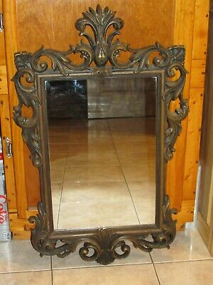 Vtg Large Ornate Wall Mirror~Hollywood Regency ~ ELEGANT Home Interior