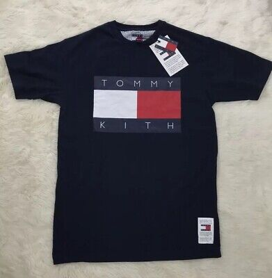 1260f984 KITH X Tommy Hilfiger Navy Colab Mens T-Shirt Logo NWT Dead Stock Size XS