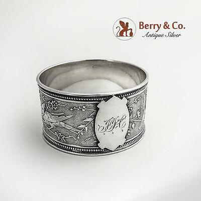 Aesthetic Napkin Ring Bird Sterling Silver Wendt 1870