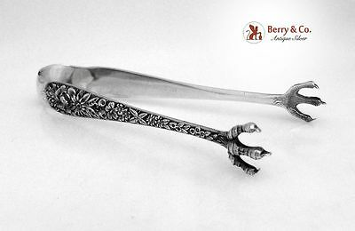 Repousse Sugar Tongs Kirk Sterling Silver 1900