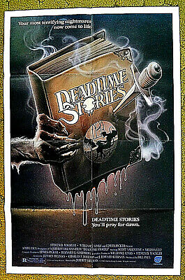 """horror tale of a witch killer -- """"DEADTIME STORIES"""" - original1986 poster 27x41"""