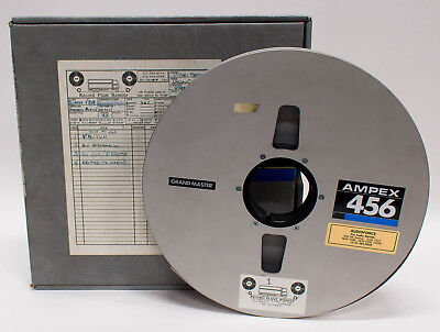 """Ampex 456 Grand Master Empty Audio Tape Reel 14"""" x 1"""" w/ Protective Tape Band"""