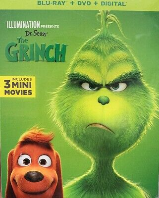 Illumination Dr. Seuss' The Grinch (Blu-ray/DVD/Digital) TARGET EXCLUSIVE! NEW!