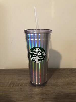 a904d26bb68 NEW Starbucks Holiday 2018 Rainbow Iridescent Holographic Tumbler 20oz